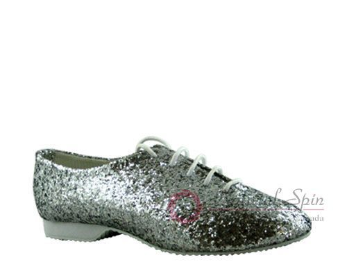 Natural Spin Jazz Shoes:  L5101_Silver