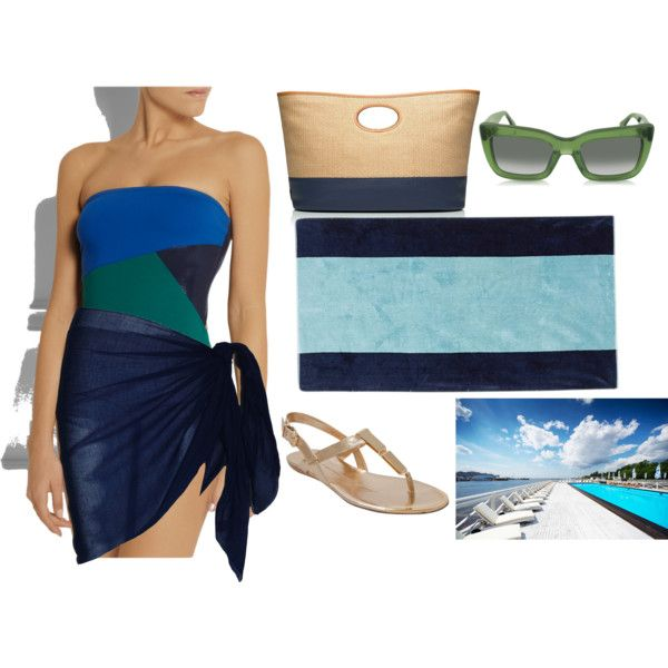 """Colorblock beach look"" by raffaellaclausi on Polyvore"