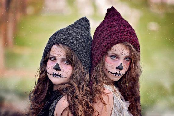 Halloween Costume Crochet Pixie Hat Witch Hat par SimplyMadeByErin