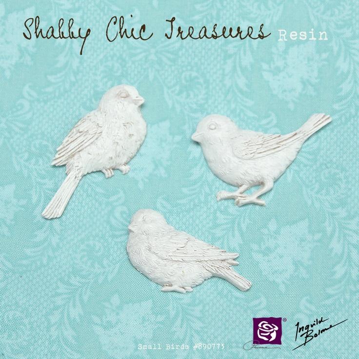 Shabby Chic Resin Treasures - Small Birds