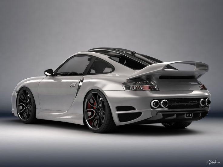 Porsche 911 996 Top Art Concept Design by Bogdan Urdea - Gray Rear And Side - 1600x1200 - Wallpaper