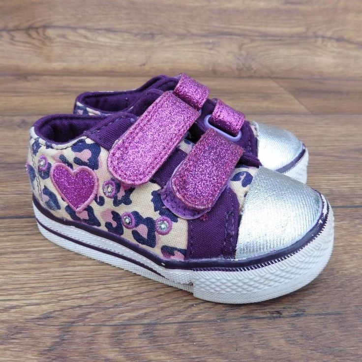 SIZE UK 5 M&S KIDS MARKS & SPENCER GIRLS LEOPARD GLITTER FLASHING TRAINERS SHOES