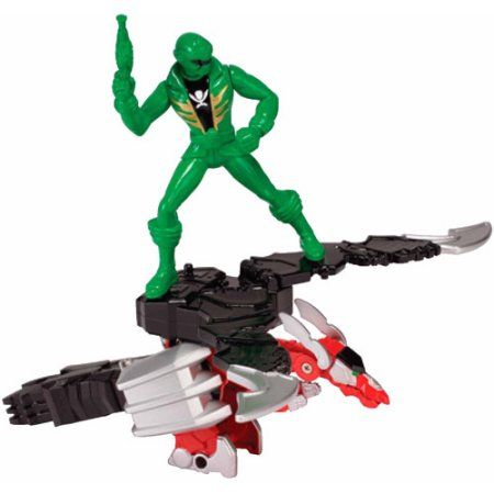 Bandai Power Rangers Super Megaforce Mystic Dragon Zord and Green Ranger, Multicolor