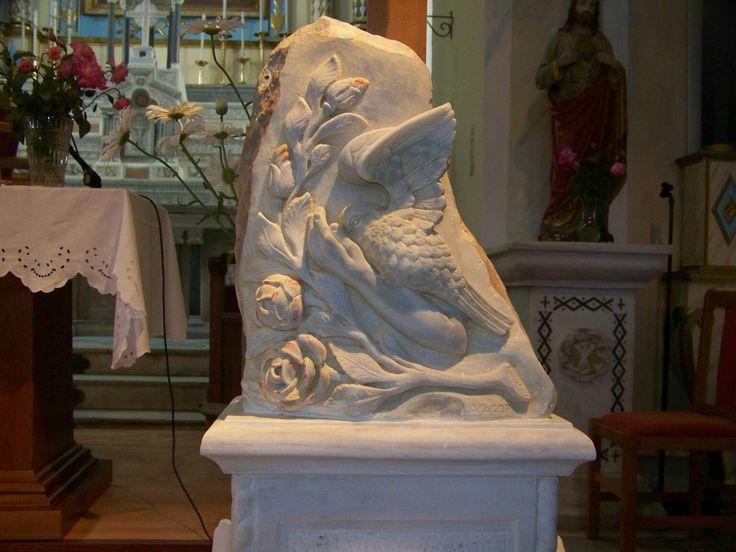 Βάση Σταυρού απο μάρμαρο από τον Ιωσήφ Αρμάο.Hand made marble base of cross made by Iosif Armao