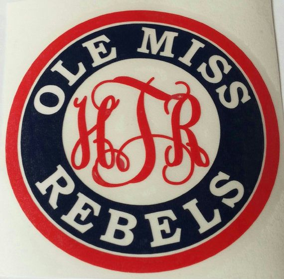 Ole Miss Yeti Decal  Personalized Ole Miss Rebels Decal Ole Miss Football Decal #Oracal