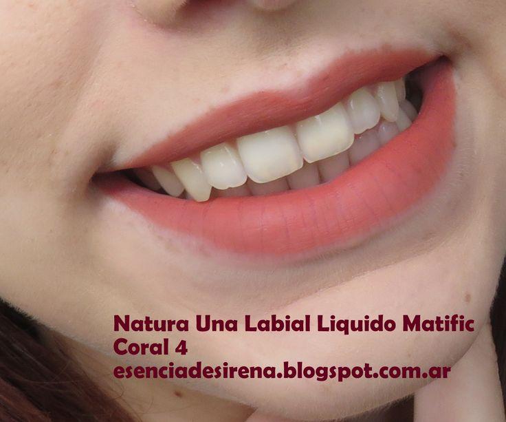 Natura Una Labial Liquido matific Coral 4