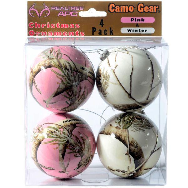 Pink Camo Christmas Decorations