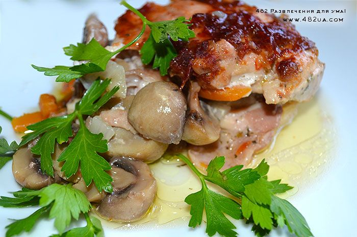 Куриная запеканка с грибами (Оригинальный рецепт)