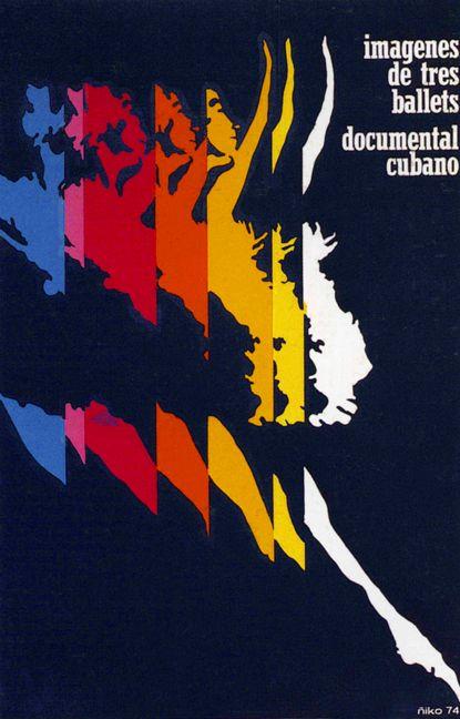 Cuban ballet poster: designed by Ñiko Pérez 1974