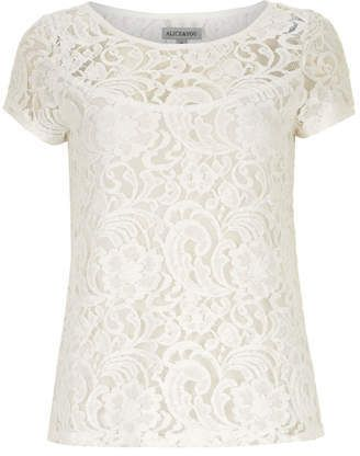 Alice & You White Lace Tee