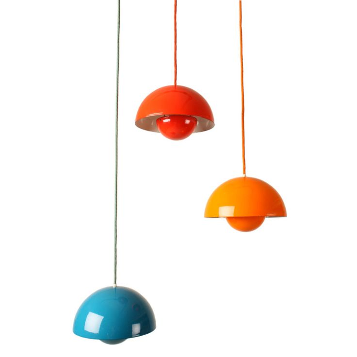 Flowerpots by Verner Panton for Louis Poulsen in Enamel | From a unique collection of antique and modern chandeliers and pendants at https://www.1stdibs.com/furniture/lighting/chandeliers-pendant-lights/