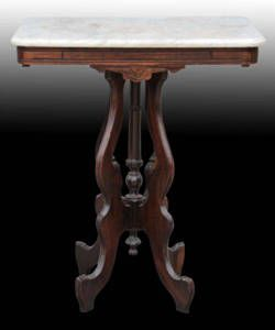 Marble Top Victorian Antique Table Ca. Late 1800s