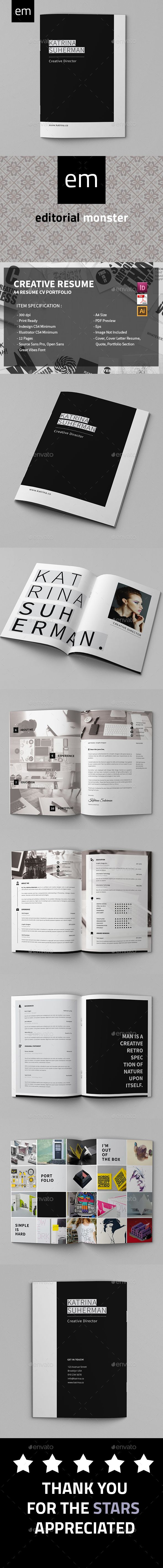 Creative Director Resume Template InDesign INDD, Vector AI Illustrator #design Download: http://graphicriver.net/item/creative-director-resume/14366261?ref=ksioks