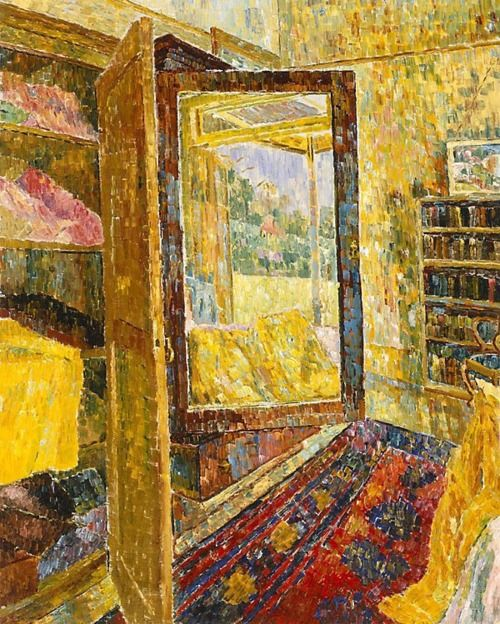 Grace Cossington Smith: Interior with wardrobe mirror (1955) The first painting I fell in love with.