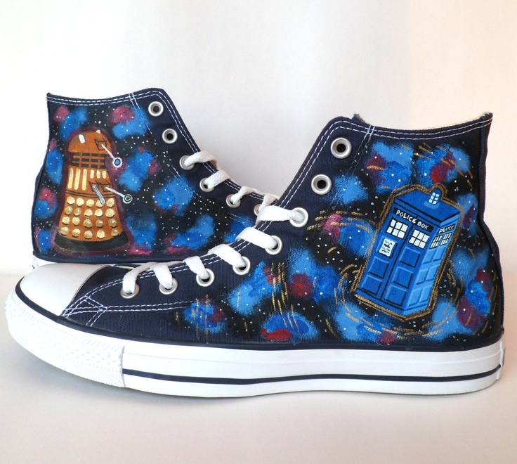 Doctor Who Converse  Dalek and Tardis by emmivisser on Etsy, $109.95