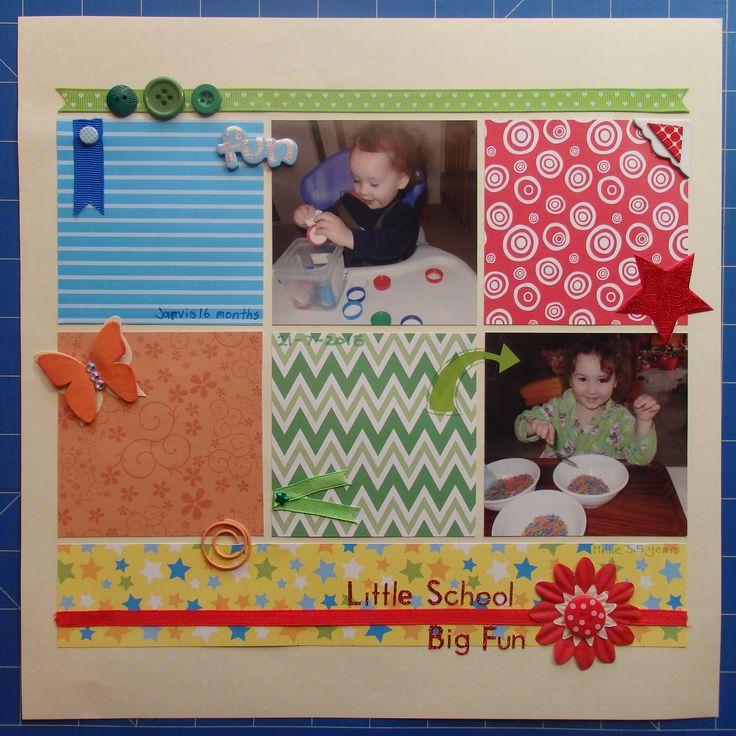 Scrapbook page by Laura: Little school, big fun