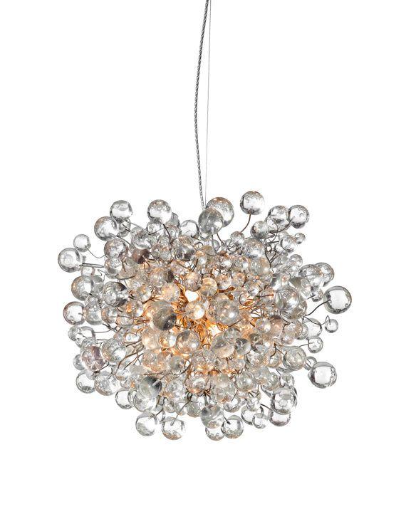 Appendere lampadari con bolle chiare per sala da pranzo, salotto, ufficio o camera da letto.