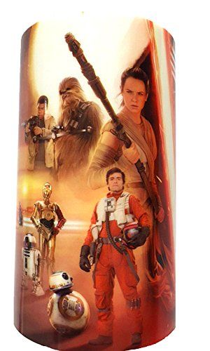 Star Wars Gifts - Star Wars Color-Changing Flameless Candle With 7 Color Cycle Plus Flickering Candlelight Effect, Choice of Multiple Scenes, Flameless Pillar 5 x 3 in (The Force Awakens Poster Art) Candle Impressions http://www.amazon.com/dp/B016N9YV7E/ref=cm_sw_r_pi_dp_qVmZwb1EJAJWE