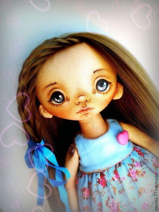 Куклы тыквоголовки ручной работы. Заказать Папина радость. Кукла текстильная.. Елена Коннова (elenika-77). Ярмарка Мастеров. девочка