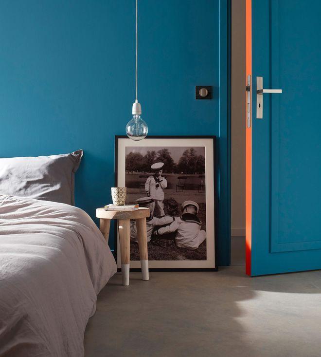 Peinture Chambre En Couleurs Peinture Chambre Chambre Bleu