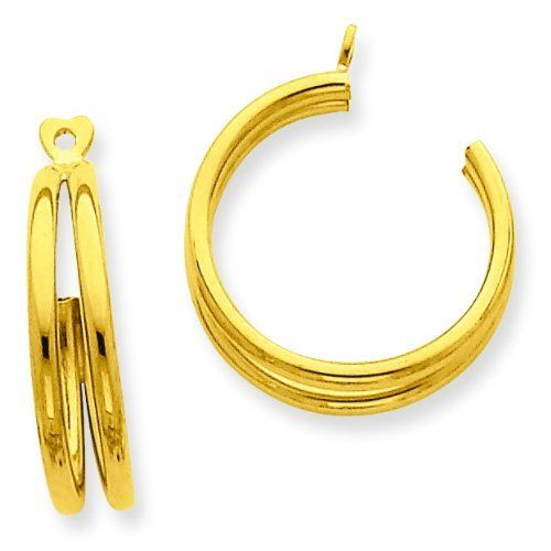 14k Yellow Gold Polished Double Hoop Earring Jackets. Gold Wt- 1.23g. Jewelry Pot. $119.99. Your item will be shipped the same or next weekday!. Fabulous Promotions and Discounts!. 100% Satisfaction Guarantee. Questions? Call 866-923-4446. 30 Day Money Back Guarantee. All Genuine Diamonds, Gemstones, Materials, and Precious Metals
