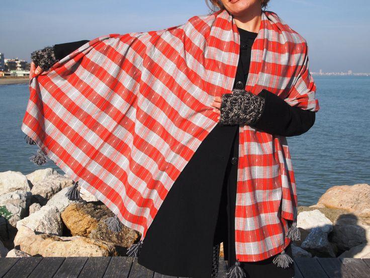 stola scialle sciarpa di jenniewabisabi su Etsy