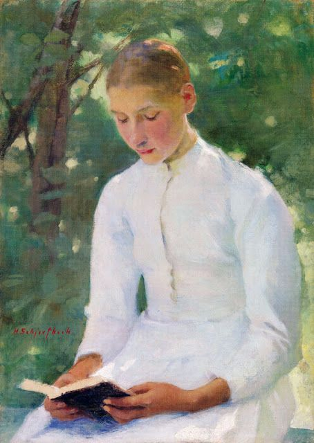 Helene Schjerfbeck「Before Confirmation」(1891)