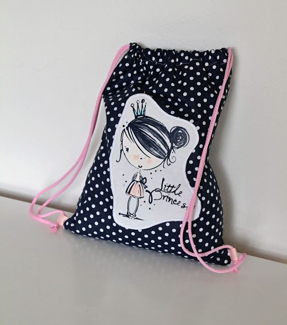 Lady Tattooch batoh vak batohy handmade homemade sewing bag bags cute for kids girl boy with picture polka