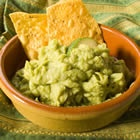 Very easy guacamole dip. Use 2 avocados, 1 chopped onion, 1 chopped tomato, 1 minced clove garlic, salt and pepper. Makes about 2 cups.