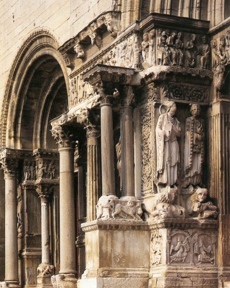North American Portal >> ROMANESQUE - SCULPTURE - North jamb - center portal of Abbey Church of Saint -Gilles - 2nd ...