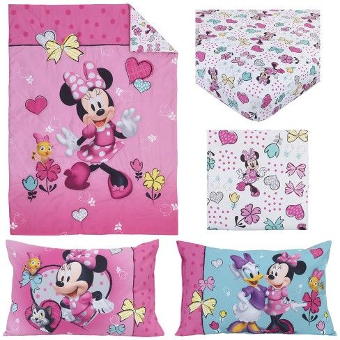 ab29deb998f Mickey Mouse & Friends Minnie Mouse Toddler 4pc Bedding Sets, Pink ...