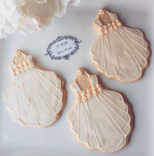 Baptismal gown cookies