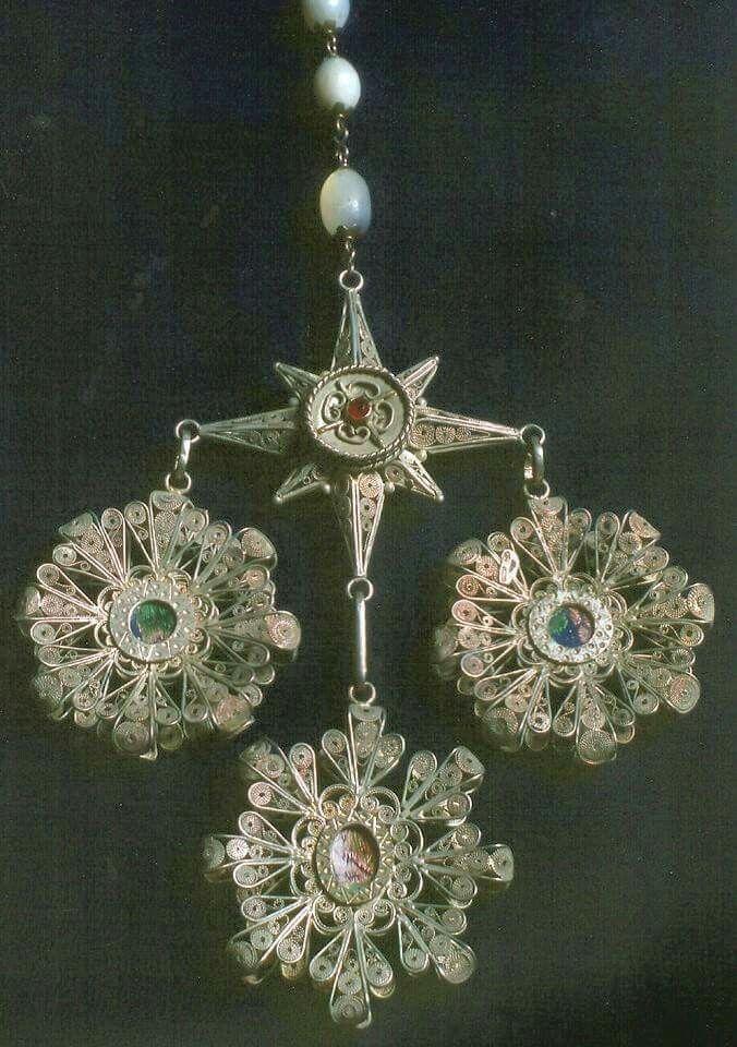 Antico rosario in filigrana d'argento.  Oliena (NU)#Sardinia#Cerdeña#Sardegna