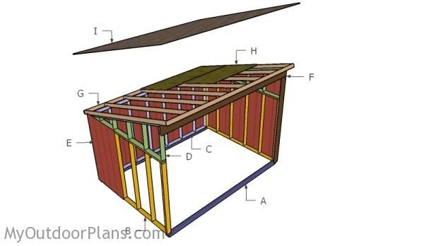 Horse shelter plans free outdoor plans diy shed for Horse barn plans free
