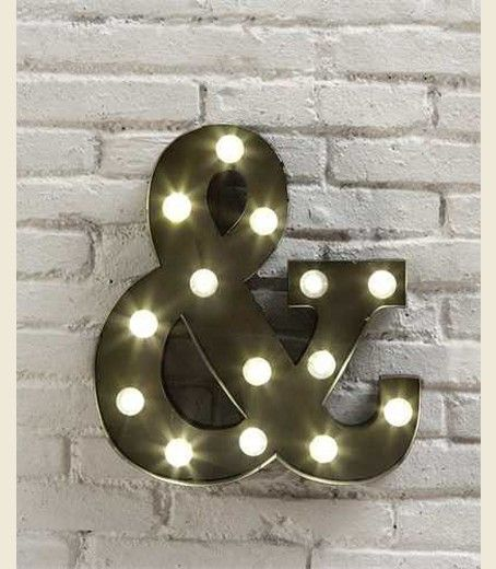 & AMpERsaND LED sign