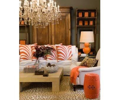 love the rug and orange