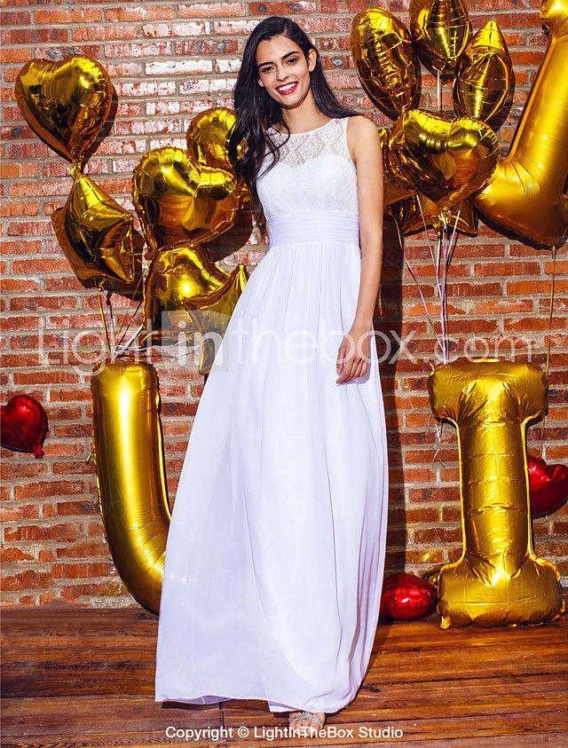 ts couture® formales Abendkleid Mantel / Spalte Juwel knöchellangen Chiffon / Spitze mit Spitze 2016 - €66.63