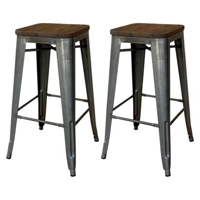 not that I need new stools… but these bar stools in wood and metal are gorgous! Threshold @ Target $90 for the set
