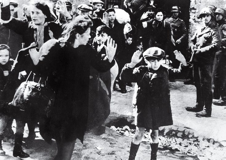 Jewish Boy Surrenders in Warsaw by Unknown After the Ghetto rebellion