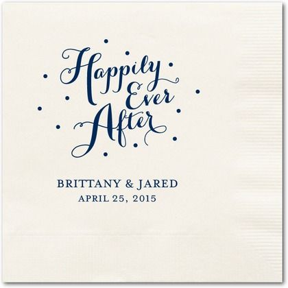 Personalized Wedding Napkins//