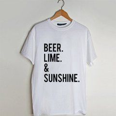 beer lime and sunshine  T Shirt