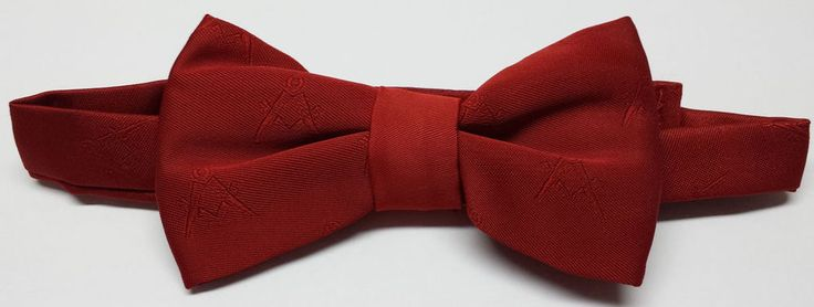Masonic Regalia Craft Bow Silk Tie Square & Compass Freemasons Lodge Gift