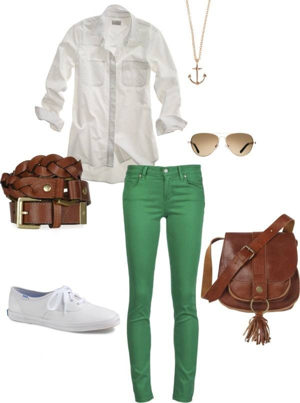 cute outfits to wear with white keds