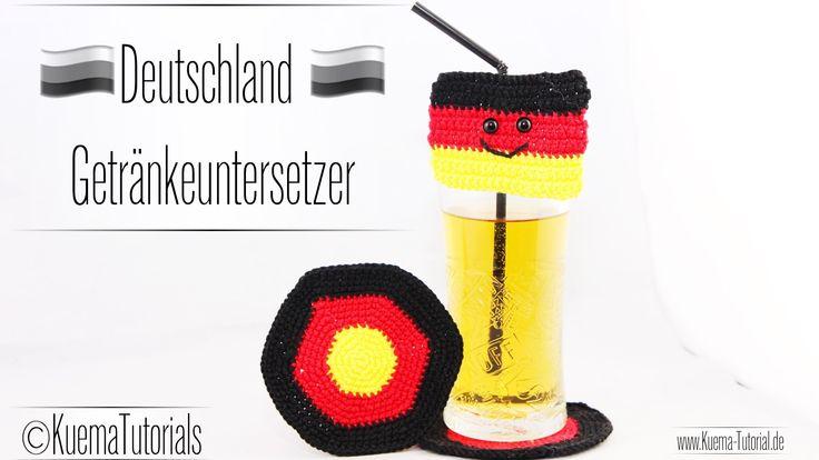 DIY: Deutschland EM Getränkeuntersetzer