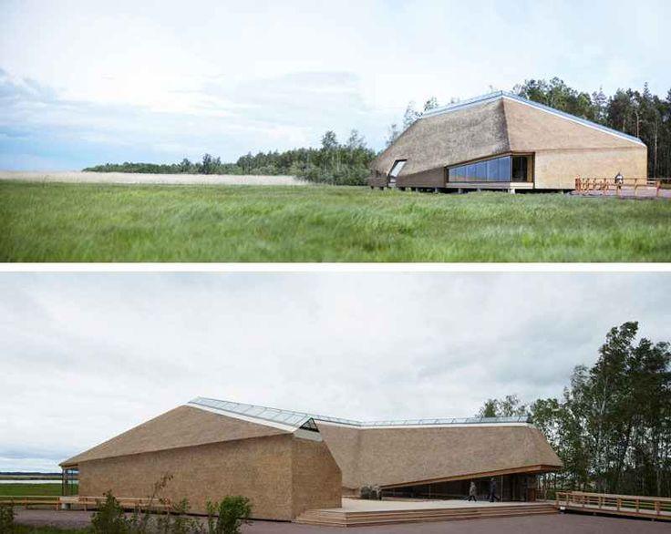 Современные дома и здания с соломенной крышей