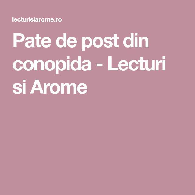 Pate de post din conopida - Lecturi si Arome