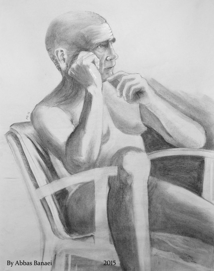 Life drawing, Charcoal. 80*100 Cm