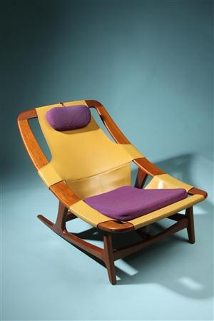 Adjustable easy chair  Holmenkollen. Designed by Arne Tidemand-Ruud, Norway. 1959.