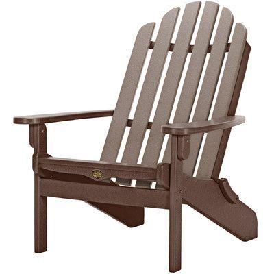 Pawleys Island Pawleys Island Folding Adirondack Chair Color: Chocolate/Weatherwood
