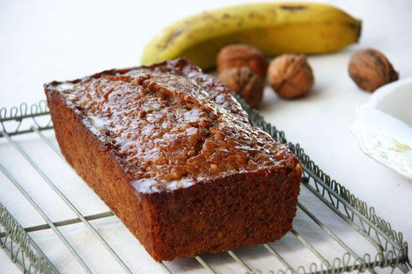 BANANA BREAD DE NUECES CON GLASEADO DE CARAMELO SALADO. | Sweet And Sour